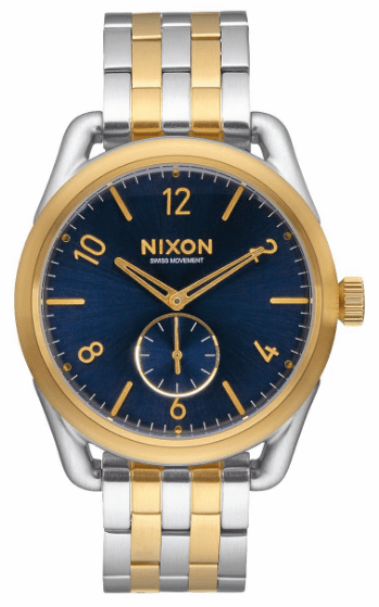 (Sale!!!) Nixon C39 SS Watch<br>Gold/Blue Sunray