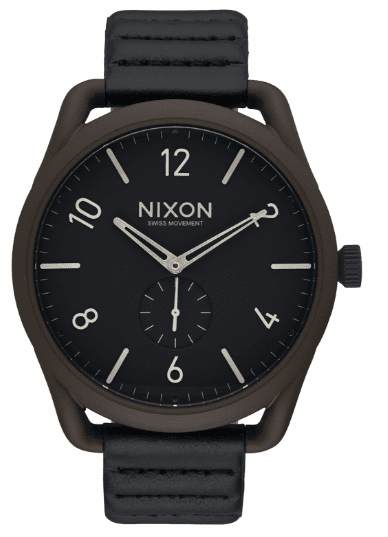 (Sale!!!) Nixon C45 Leather Watch<br>Bronze/Black