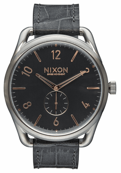 (Sale!!!) Nixon C45 Leather Watch<br>Grey Gator