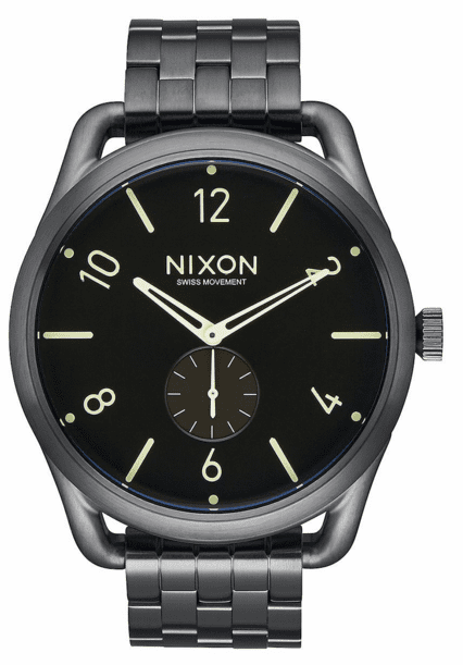 (Sale!!!) Nixon C45 SS Watch<br>All Gunmetal/Lum