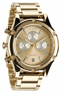 (Sale!!!) Nixon Camden Chrono Watch<br>Light Gold/Silver