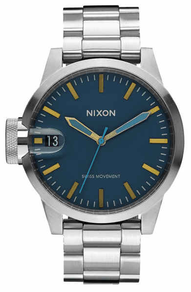 (Sale!!!) Nixon Chronicle 44 Watch<br>Navy/Brass