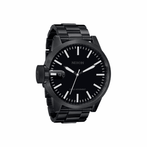 (Sale!!!) Nixon Chronicle SS Watch <BR>All Black