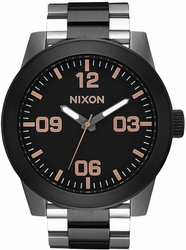 (Sale!!!) Nixon Corporal SS Watch<br>Black/Rose Gold