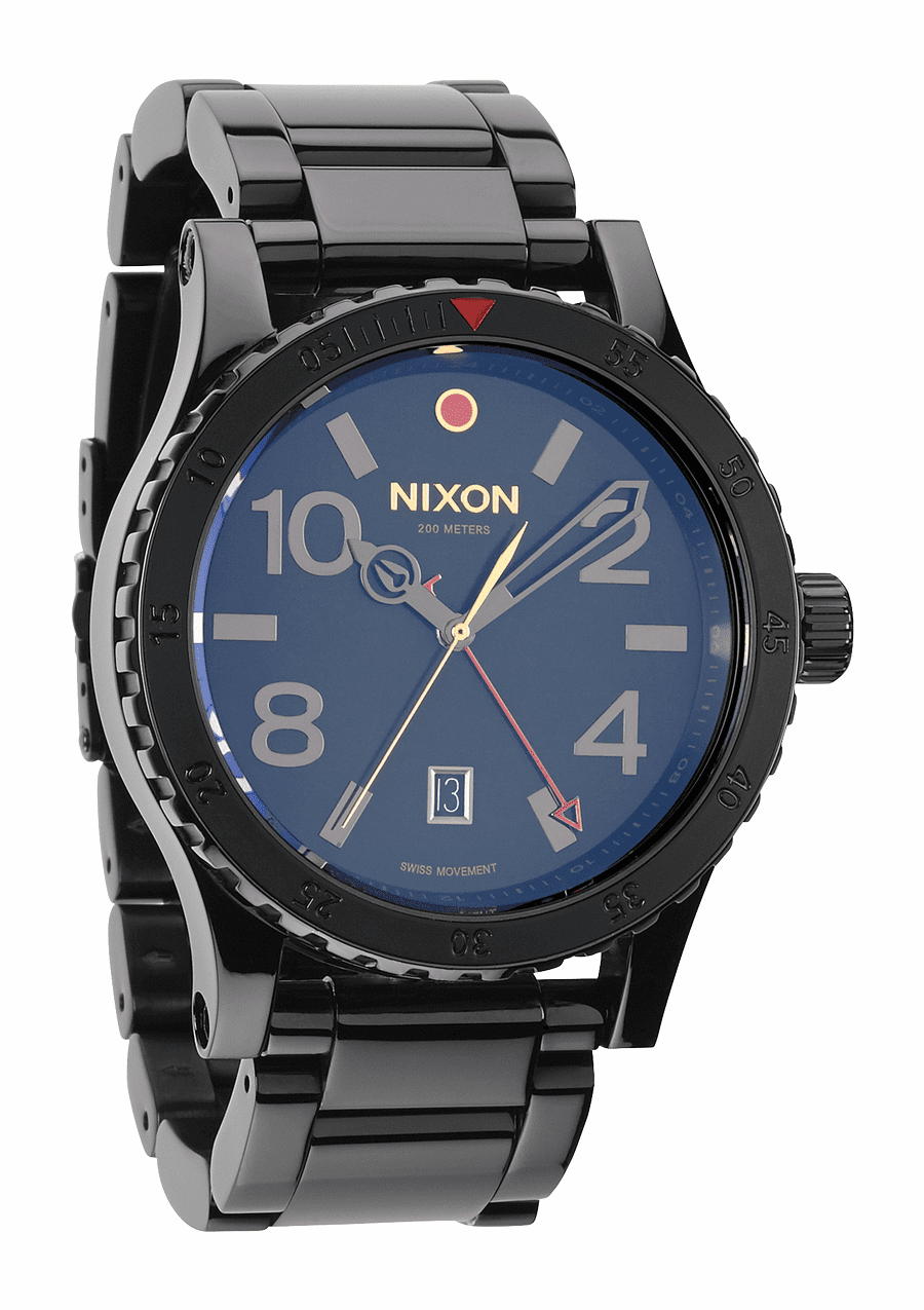 (Sale!!!) Nixon Diplomat SS Watch<br>All Black Polished/Gold