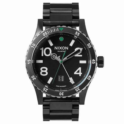 (Sale!!!) Nixon Diplomat SS Watch<br>Black/Silver/Green