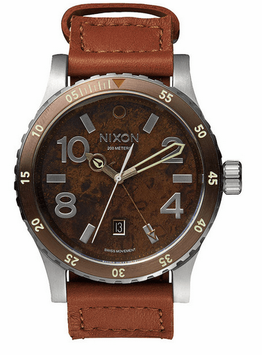 (Sale!!!) Nixon Diplomat Watch<br>Dark Copper/Saddle