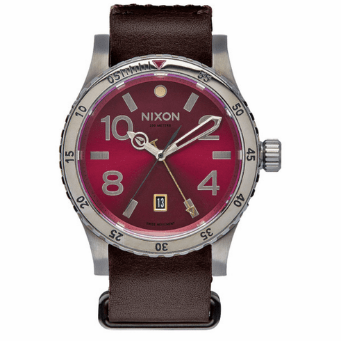 (Sale!!!) Nixon Diplomat Watch<br>Gunmetal/Deep Burgundy