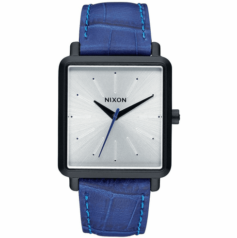 (Sale!!!) Nixon K Squared Watch<br>Black/Blue Gator