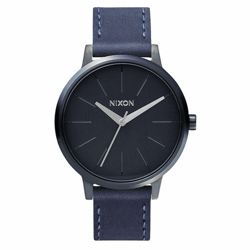 (SALE!!!) Nixon Kensington Leather Watch<br>All Indigo/Natural