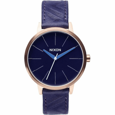 (SALE!!!) Nixon Kensington Leather Watch<br>Cobalt/Mod