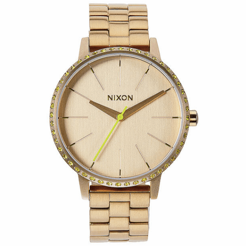 (Sale!!!) Nixon Kensington Watch<br>All Gold/Neon Yellow