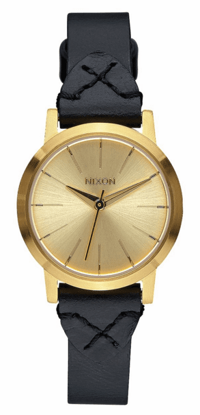 (Sale!!!) Nixon Kenzi Leather Watch<br>Gold/Bridle