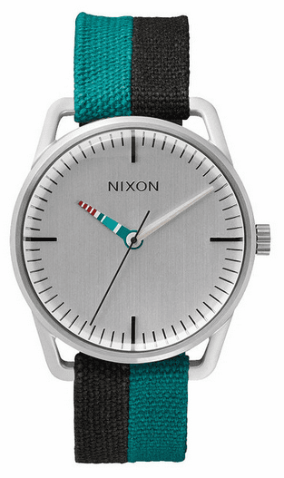 (SALE!!!) Nixon Mellor Watch<br>Silver/Blue/Pop Stripe
