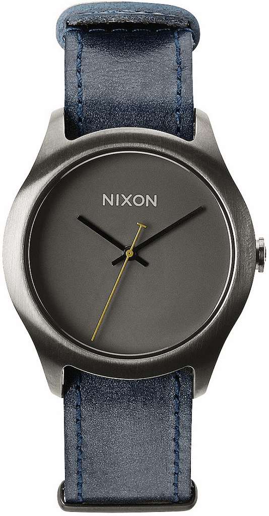 (SALE!!!) Nixon Mod Leather Watch<br>Gunmetal/Navy