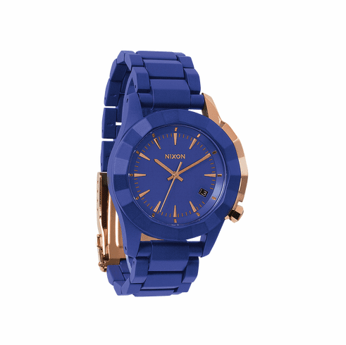 (Sale!!!) Nixon Monarch Watch<br>Cobalt/Rose Gold