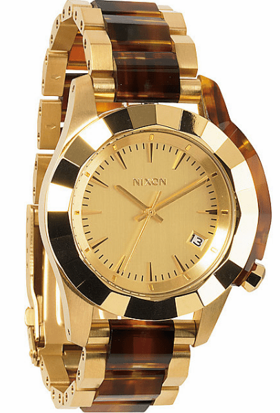 (Sale!!!) Nixon Monarch Watch<br>Gold/Molasses