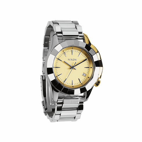(Sale!!!) Nixon Monarch Watch<br>Silver/Light Gold