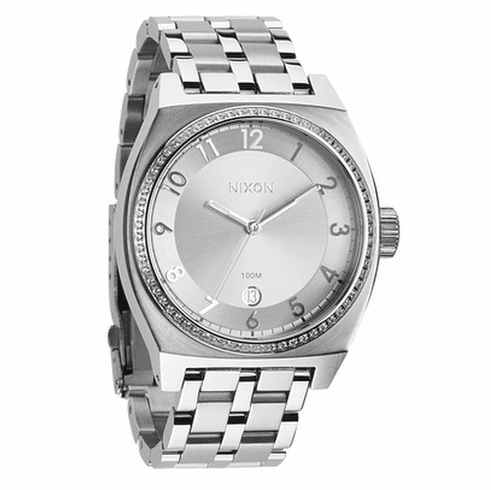 (Sale!!!) Nixon Monopoly Watch<br>All Silver Crystal