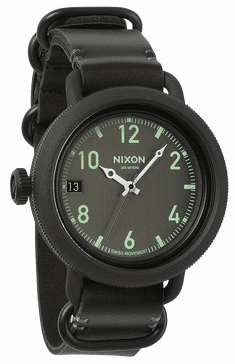(SALE!!!) Nixon October Leather Watch<br>All Black