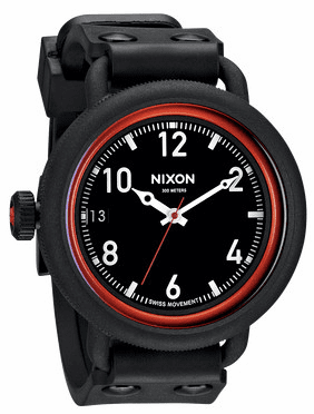 (Sale!!!) Nixon October Watch<br>All Black/Red