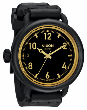 (Sale!!!) Nixon October Watch<br>Matte Black/Orange Tint