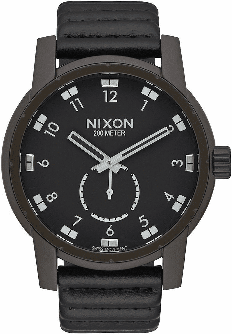 (Sale!!!) Nixon Patriot Leather Watch<br>Bronze/Black