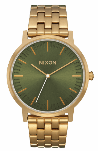 (Sale!!!) Nixon Porter Watch<br>All Gold/Olive Sunray