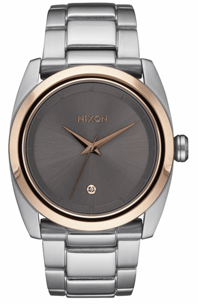 (Sale!!!) Nixon Queenpin Watch<br>Silver/Rose Gold/Taupe
