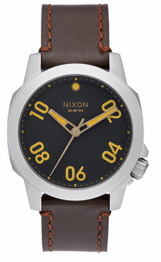 (Sale!!!) Nixon Ranger 40 Leather Watch<br>Black/Brown