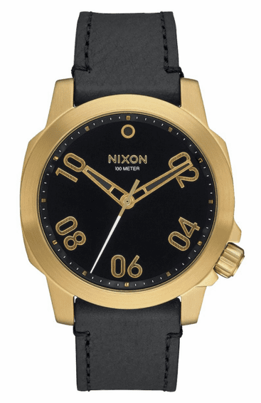 (Sale!!!) Nixon Ranger 40 Leather Watch<br>Gold/Black