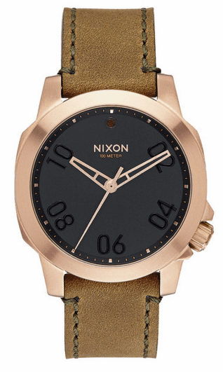 (Sale!!!) Nixon Ranger 40 Leather Watch<br>Rose Gold/Brown
