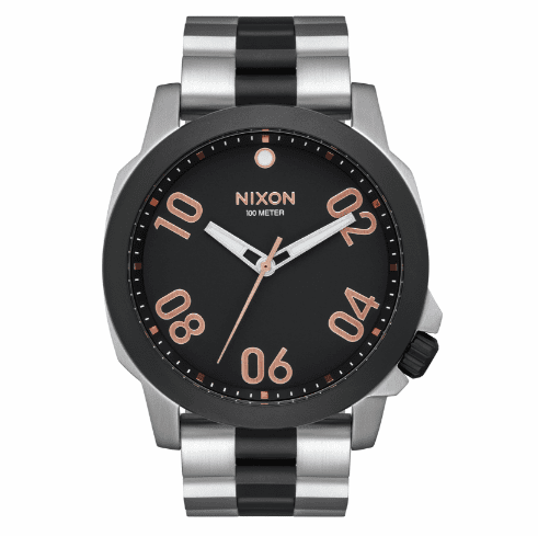 (Sale!!!) Nixon Ranger 45 Watch<br>Black/Rose Gold