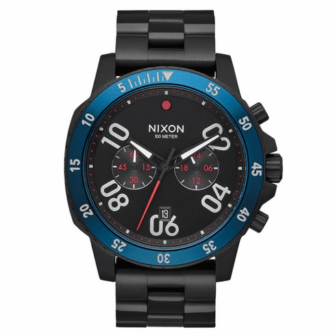 (Sale!!!) Nixon Ranger Chrono Watch<br>All Black/Blue