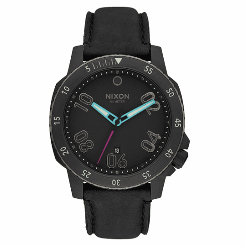 (Sale!!!) Nixon Ranger Leather Watch<br>All Black/Multi