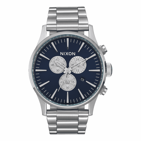 (SALE!!!) Nixon Sentry Chrono Watch<br>Blue Sunray