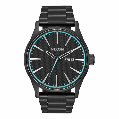 (Sale!!!) Nixon Sentry SS Watch<br>All Black/Blue