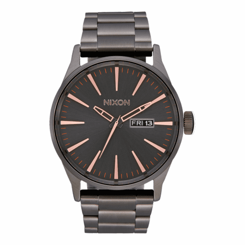 (SALE!!!) Nixon Sentry SS Watch<br>All Gunmetal/Rose Gold