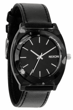 (Sale!!!) Nixon Time Teller Acetate Leather Watch<br>Gray Granite