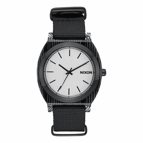 (Sale!!!) Nixon Time Teller Acetate Watch<br>All Black/Silver