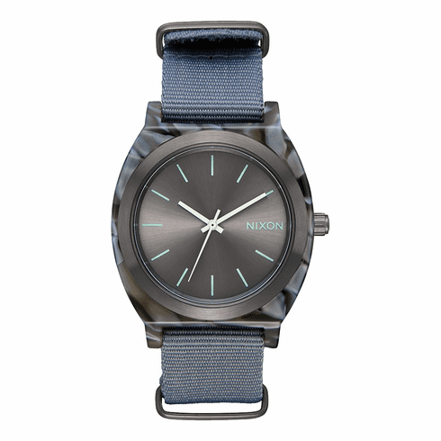 (Sale!!!) Nixon Time Teller Acetate Watch<br>Gray/Gunmetal