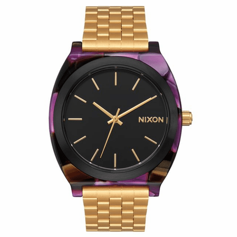 (Sale!!!) Nixon Time Teller Acetate Watch<br>Multi/Gold