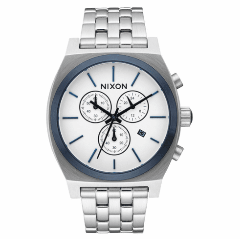 (Sale!!!) Nixon Time Teller Chrono Watch<br>White Sunray