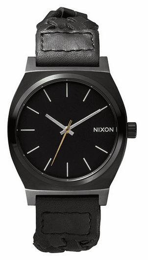(Sale!!!) Nixon Time Teller Watch<br>All Black Woven