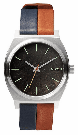 (Sale!!!) Nixon Time Teller Watch<br>Dark Copper/Navy/Saddle