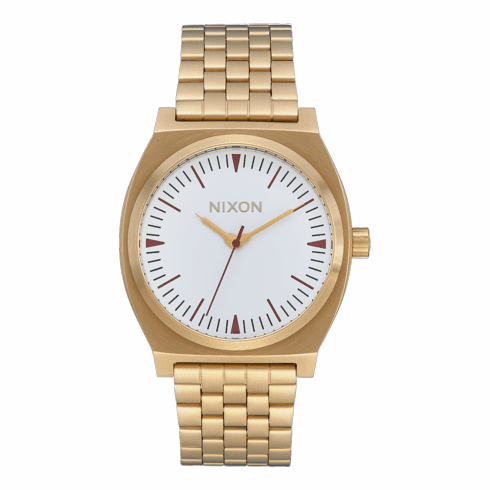 (SALE!!!) Nixon Time Teller Watch<br>Gold/Red/Saddle