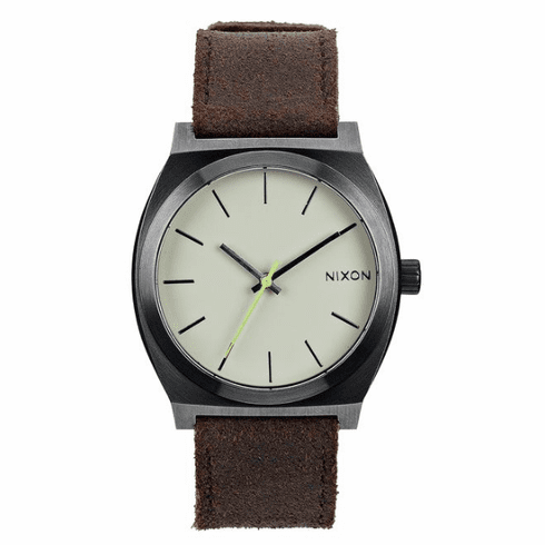 (Sale!!!) Nixon Time Teller Watch<br>Gunmetal/Brown