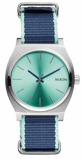 (Sale!!!) Nixon Time Teller Watch<br>Mint/Navy