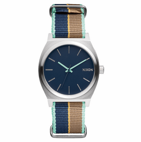 (Sale!!!) Nixon Time Teller Watch<br>Navy/Navy Stripe