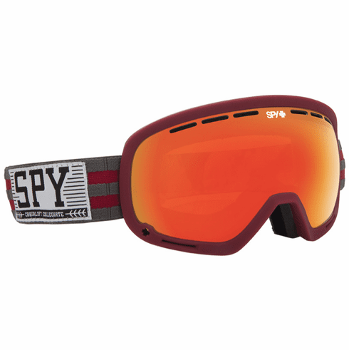 (Sale!!!) Spy Optic Marshall Snow Goggles<br>Chairlift Collegiate/Bronze w/Red Spectra